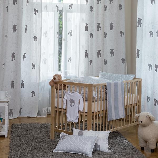 Kinder-Vorhänge mit Schäfchenmuster