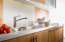 Focus S Edelstahl-Küchenarmatur von Hansgrohe © Hansgrohe