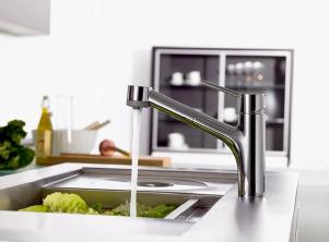 Talis S Küchenarmatur aus Edelstahl von Hansgrohe © Hansgrohe