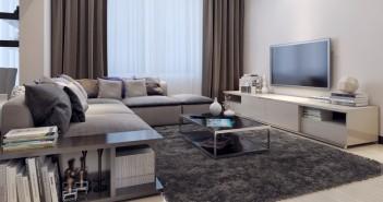 Stilvolles Wohnzimmer in Grautönen © ostap25 - Fotolia.com