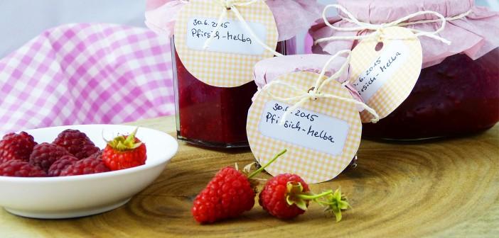 Pfirsich-Melba Marmelade