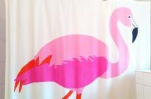 Duschvorhang Flamingo