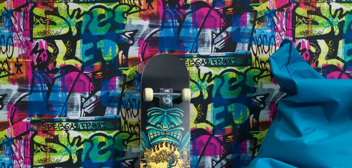 Tapete mit Grafitti