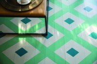 lackierter Boden mit Muster