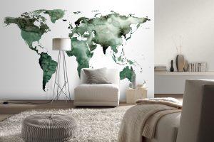 Tapete mit Weltkarte